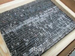 Letterpress Lead Type 18 Pt. Bernhard Gothic Heavy ATF # 530 H50