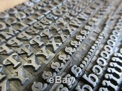 Letterpress Lead Type 18 Pt. Buffalo (H. C. Hansen Type Foundry) a24