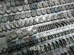 Letterpress Lead Type 18 Pt. Elegante Baltimore Type Foundry B28