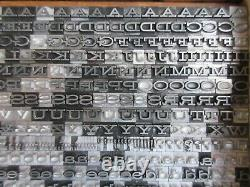Letterpress Lead Type 18 Pt. Hellenic Wide Bauer Type Foundry B42