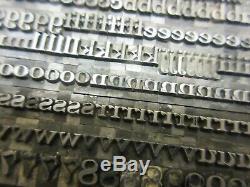 Letterpress Lead Type 18 Pt. Invitation ATF # 457 A58