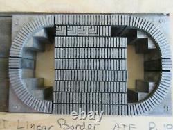 Letterpress Lead Type 18 Pt. Linear Border ATF H11