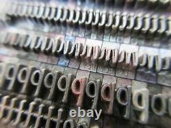 Letterpress Lead Type 18 Pt. Murray Hill Bold ATF # 713 C29
