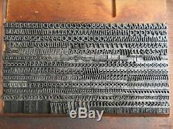 Letterpress Lead Type 18 Pt. Parsons Italic (B, B, & S) B33