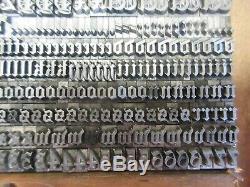Letterpress Lead Type 18 Pt. Priority Black Text B, B, & S ATF # 1847 a34