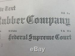 Letterpress Lead Type 18 Pt. Waldorf Text Barnhart Brothers, & Spindler d62