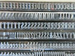 Letterpress Lead Type 18 Pt. Woodward Condensed Inland Type Foundry D37