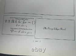 Letterpress Lead Type 24 Pt. French Plate Script (B, B, & S) H76