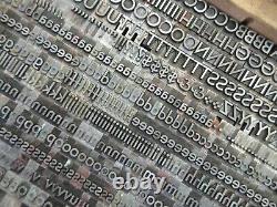 Letterpress Lead Type 30 Pt. Bernhard Gothic Medium ATF # 525 L53