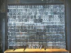 Letterpress Lead Type 30 Pt. Freehand ATF # 469 D53