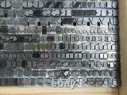 Letterpress Lead Type 30 Pt. Nubian ATF # 510 A11