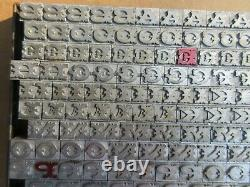 Letterpress Lead Type 36 Pt. Antique Typeface STACCATO G73