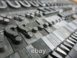 Letterpress Lead Type 36 Pt. Bernhard Gothic Heavy ATF # 530 L63