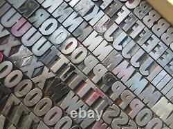 Letterpress Lead Type 48 Pt. Airport Black Condensed Title Balto A21