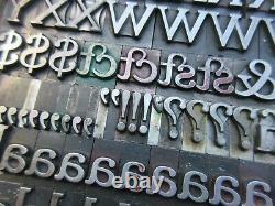 Letterpress Lead Type 48 Pt. Cheltenham Bold Extended ATF # 72 A15