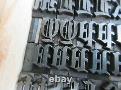 Letterpress Lead Type 48 Pt. Engravers Old Black (B, B, & S) A54