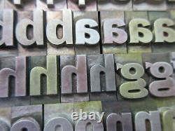 Letterpress Lead Type 48 Pt. Franklin Gothic ATF # `162 A5
