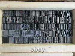 Letterpress Lead Type 48 Pt. Huxley Vertical ATF # 596 G40