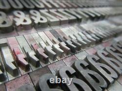 Letterpress Lead Type 60 Pt. Alternate Gothic No. 1 ATF # 6 A76