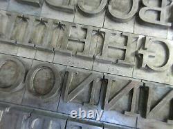 Letterpress Lead Type 60 Pt. Craw Clarendon Book ATF # 712 A78
