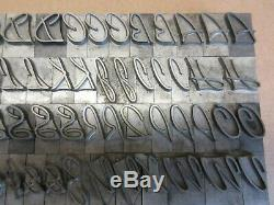 Letterpress Lead Type 72 Pt. Kaufmann Script ATF # 652 A5
