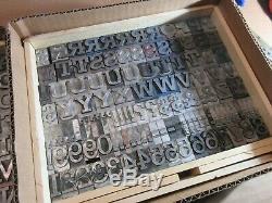Letterpress Lead Type 72 Pt. Rockwell Antique (CAPS, #'s, Punct.) C10
