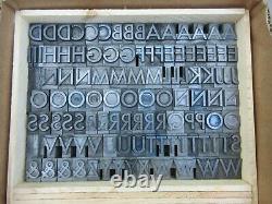 Letterpress Lead Type 72 Pt. Spartan Medium ATF # 681 D58