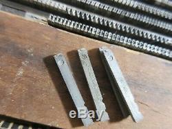 Letterpress Lead Type 8 Pt. Egyptian No. 4 Boston Type Foundry d34
