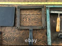 Letterpress Printing Press Pilot Tools Card Chase And Misc Roller