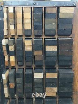 Letterpress Printing Supplies Thompson Midget Furniture Cabinet Complete