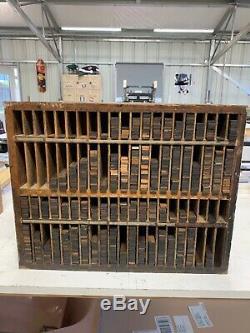 Letterpress Reglet Furniture Cabinet Wood Type Vintage Original 6 & 12 Picas