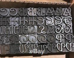 Letterpress Type 36 Pt Parsons Swash Initials