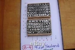 Letterpress Type 42 pt. Neuland Rare
