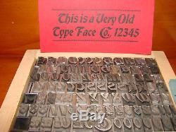 Letterpress Type 48 pt. Bradley Italic ATF, circa 1898 (Rare!)
