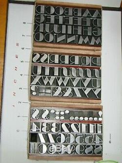 Letterpress Type 48 pt. Broadway ATF Missing L