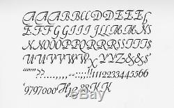Letterpress Type- 48pt. Artscript complete font