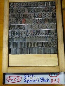 Letterpress Type 60 pt. Spartan Black (Three 8 1/2 x 11 Boxes)