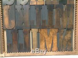 Letterpress Wood Type 30 Line /5 inch ANTIQUE Complete Cap Font 66 pieces
