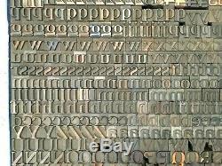 Letterpress Wood Type Caslon 7/16 of an Inch
