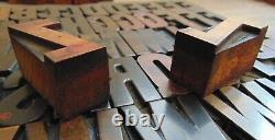 Letterpress Wood Type Printing Blocks Alphabet 1 5/8 Tall
