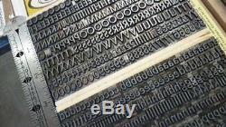 Letterpress type 24 pt ATF LYDIAN complete font