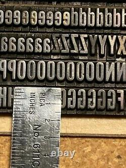 Letterpress type 36pt News Gothic Ext. Cond. Caps & 18pt Alternate Gothic No. 1