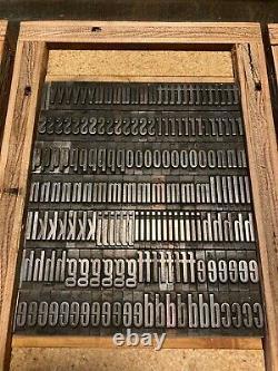 Letterpress type 60pt Gothic Keystone Type Foundry