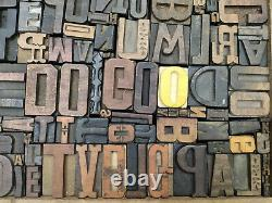 Letterpress wood types collage Do Go, 91 vintage random wooden types TC4