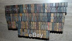 Lot 104 Wood Letterpress Print Type Block Upper Case Letters Numbers 1 Tall