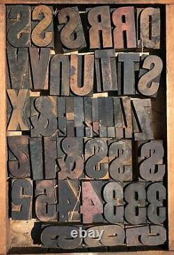 Lot 110 Antique Vintage Wood Letterpress Print Type Block Letter Number 2.5 20s
