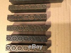 Lot 11 Pc Wood Printing Letterpress Printers Block Ornamental