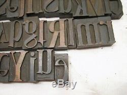Lot 140++ Antique Letterpress Wood Print Printing Block Type Set Letters Ornate