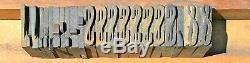 Lot 194 Wood Letterpress Print Type Block Upper Lower Letters Numbers Punct. 1