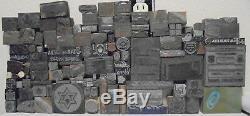 Lot Of 112 Vintage Cuts Printing Block Letterpress Blocks